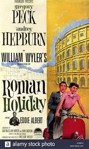 ROMAN HOLIDAY poster for 1953 Paramount film with Audrey ...