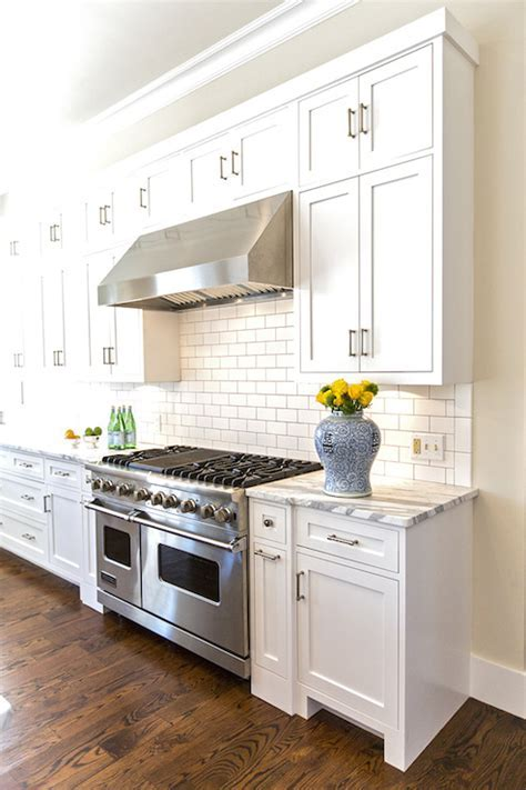 Stacked Kitchen Cabinets In A White And Grey One Home Made