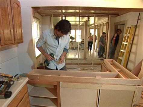 how to build kitchen islands how to building a kitchen island with cabinets hgtv
