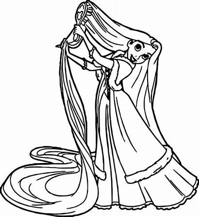 Rapunzel Coloring Brush Colorat Princess Cu Planse