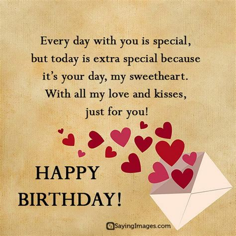 sweet happy birthday wishes  boyfriend sayingimagescom