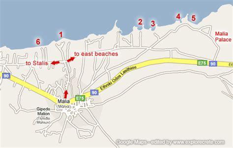 Malia Kreta Karte