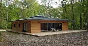 Maison Préfabriquée En Bois : normandie une maison ossature bois carr e en pleine ~ Premium-room.com Idées de Décoration