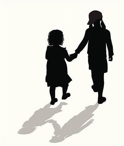 Sisters Silhouette Vector Sister Clipart Icon Clip