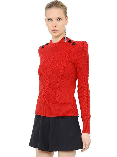 marant sweater marant wool cable knit sweater in lyst