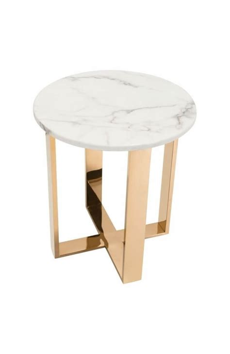 white marble table l white marble gold side table modern furniture brickell