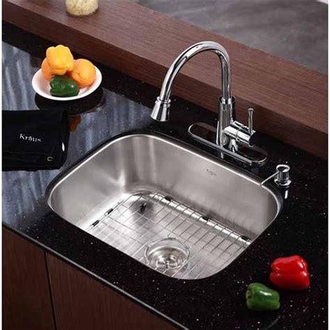kraus undermount kitchen sink kraus undermount 16 single bowl kitchen sink 6731