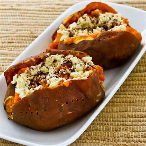 baked sweet potato recipe kalyn s kitchen 174 twice baked sweet potatoes with feta and sumac