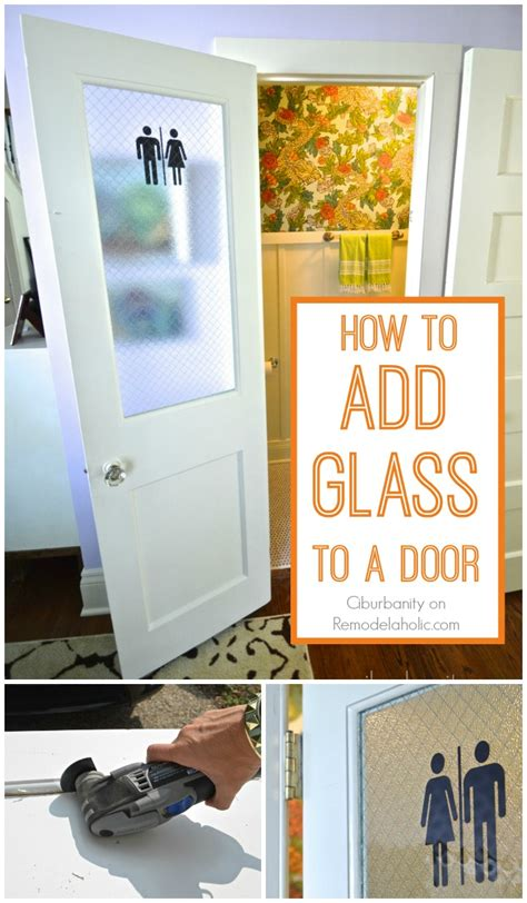 Remodelaholic  How To Add A Glass Pane To A Wood Door