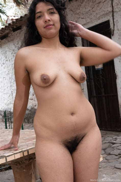 maria f strips naked in the outdoors today