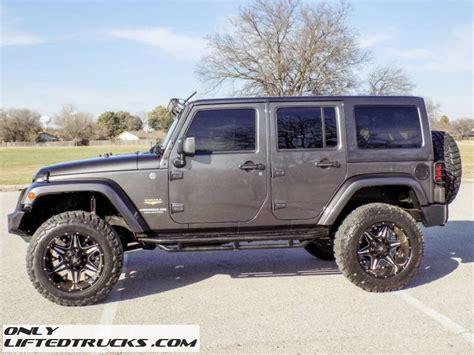 jeep grey lifted grey 2014 jeep wrangler unlimited sahara conversion
