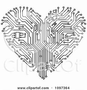 royalty free rf hearts day clipart illustrations With circuit board red