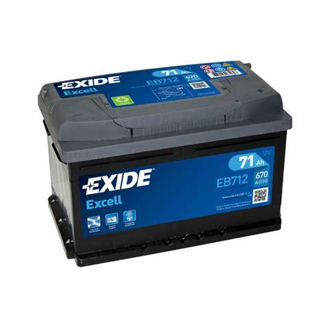 1x Exide Excell 71ah 670cca 12v Type 096 Car Battery 3