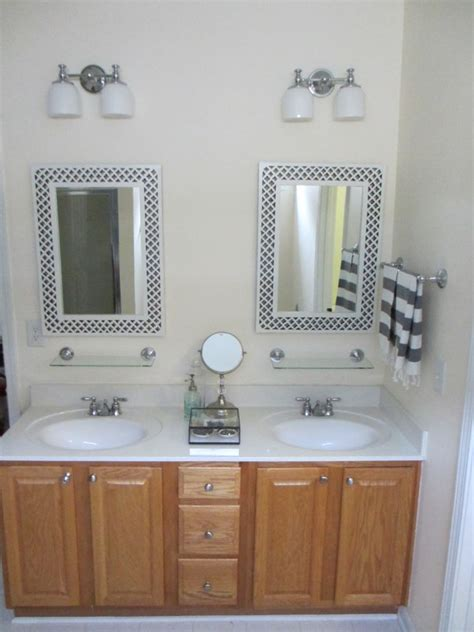 painted bathroom vanity     delighted