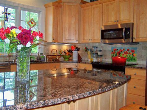 Floral Kitchen Backsplash (red Poppies)  Designer Glass