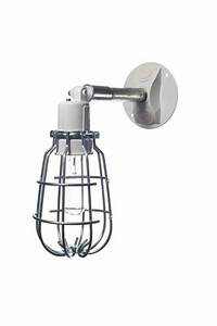 Industrial wall light outdoor wire cage exterior