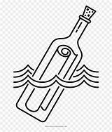 Bottle Message Coloring Botella Flaschenpost Dibujo Mensaje Colorear Garrafa Ausmalbilder Mensagem Uma Colorir Desenho Vhv Clipart sketch template