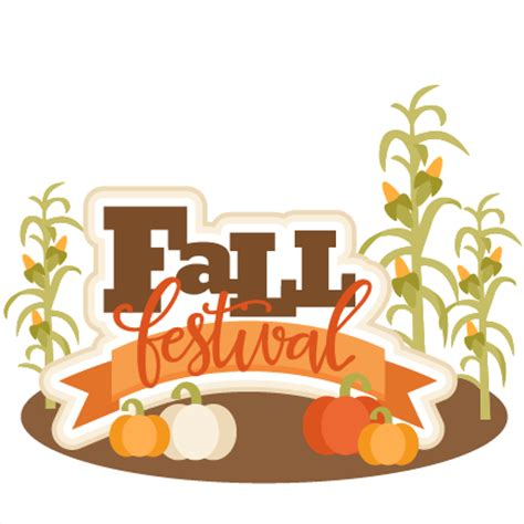 Fall Festival Clipart Fall Festival Title Svg Scrapbook Cut File Clipart