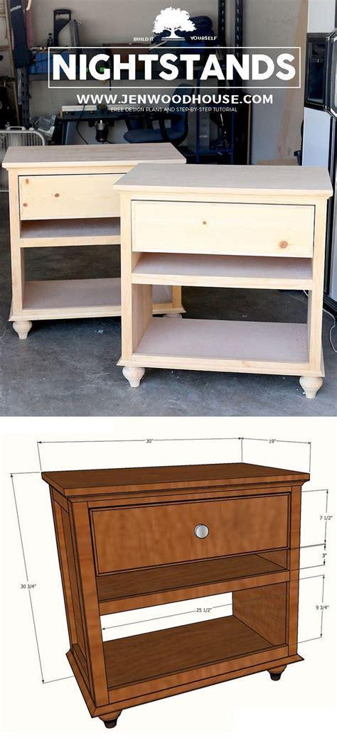 build diy nightstand bedside tables scrapworklove getbuilding diy nightstand
