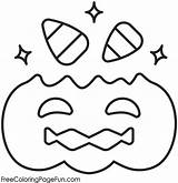 Corn Candy Coloring Pages Halloween Sheet Pumpkin Printable sketch template