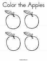 Apples Coloring Pages Apple Printable Worksheets Outline Preschool Bitten Mini Drawing Twistynoodle Books Fruit Printables Twisty Sheets Number Fall Noodle sketch template