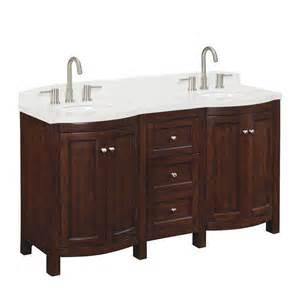 shop allen roth 60 in sable moravia double sink bathroom