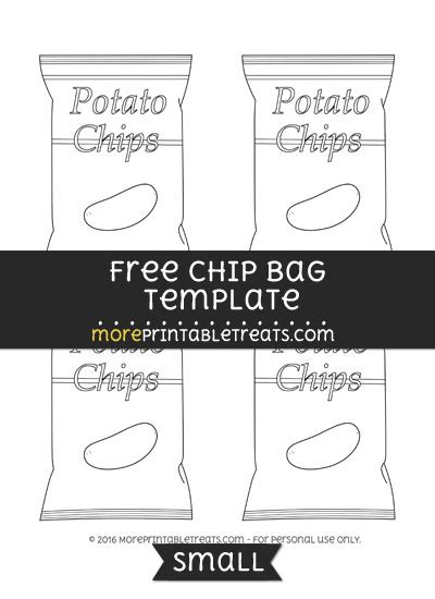 chip bag template for chip bag template small