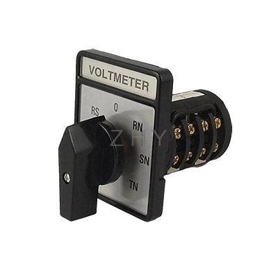 voltmeter 3 phase 4 wire rotary selector switch in switches from home improvement on