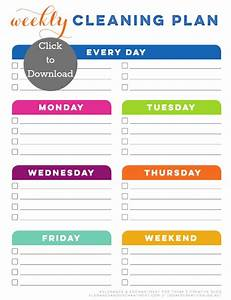 Weekly Cleaning Schedule Printable - Today's Creative Life
