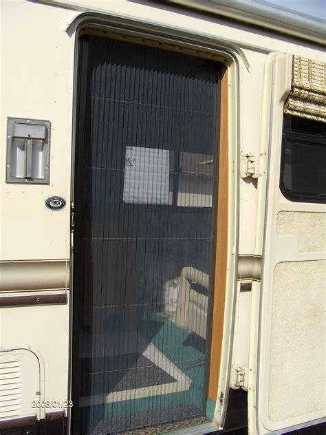 rv screen door retractable screens for rv s motorhomes recreational