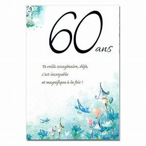 Faire Part Anniversaire 60 Ans : texte pour carte d 39 anniversaire 60 ans wizzyloremaria web ~ Edinachiropracticcenter.com Idées de Décoration
