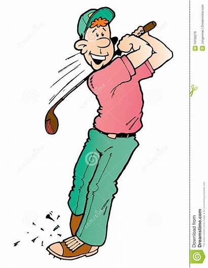 Goofy Golf Golfeur Golfspeler Maladroit Golfer Golfare