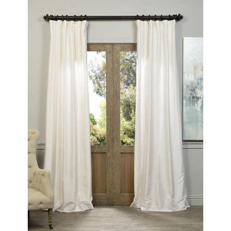 White Faux Silk Drapes - white textured vintage faux dupioni silk curtain