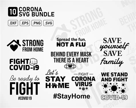I've put together a collection of my favorite svg images written by ali fields | updated: Corona Covid 19 Virus Fight Printable SVG Cut File DXF PNG ...