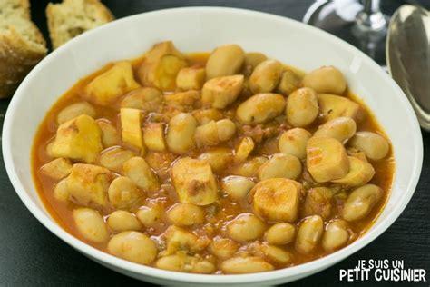 Comment Cuisiner Le Poulpe Frais by Recette De Mijot 233 De Haricots Blancs Au Poulpe Cassoulet