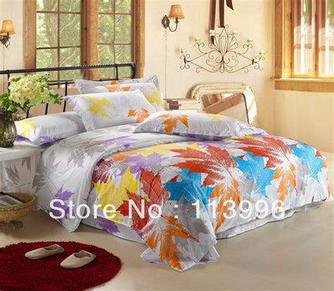 fall bedding sets maple leaves autumn bedding set size comforter