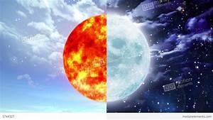 Sun And Moon Stock Animation