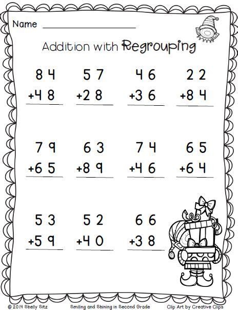 2nd grade math worksheet subtraction with borrowing freebie print and go free educational