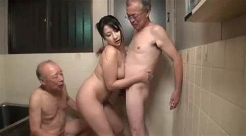 Grandpa And Youthful In Hotel