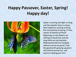 Happy passover, easter, spring! happy day!