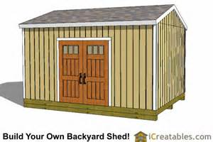 12x16 Gambrel Storage Shed Plans Free by The Shedplan Detail Easy Shed Roof Plans