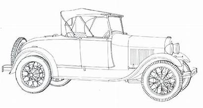 Coloring Pages Cars Ford Classic Adult Craft