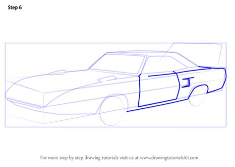 Step By Step How To Draw 1970 Plymouth Superbird