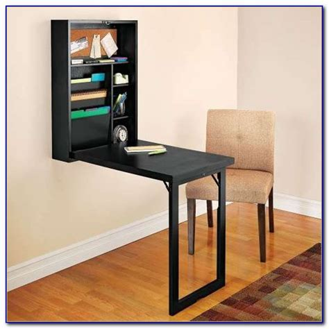 Wall Mounted Desk Fold Up   Desk : Home Design Ideas #