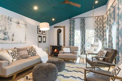 Living Room : 10 Living Rooms That Boast A Teal Color