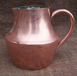 french country coffe pot copper tin lined normandy  ebay