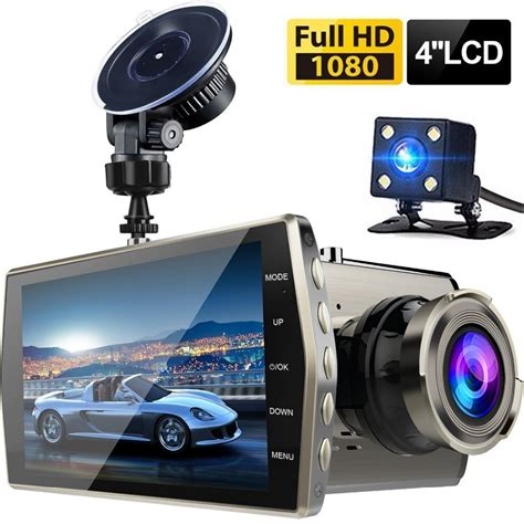 car dvr dash dual lens car dvr vehicle hd 1080p 4