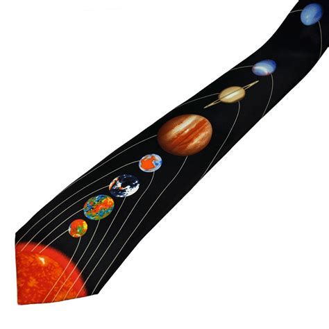 teal mens shirt sun planets of the solar system 39 s novelty tie from