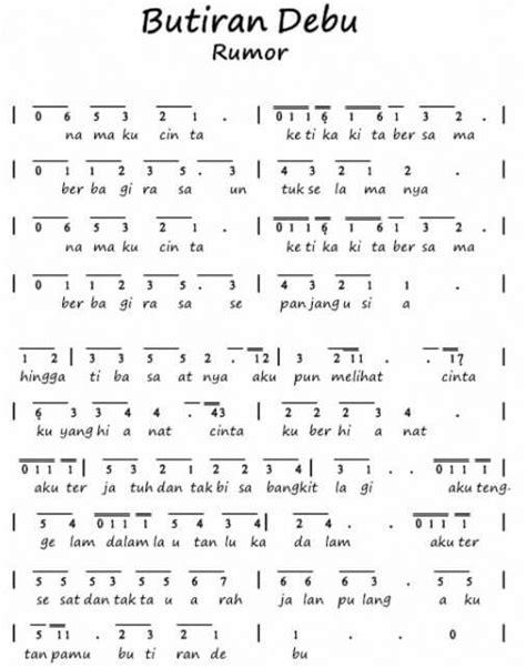 not angka lagu peuyeum bandung 100 not angka lagu pop pianika anak anak balok