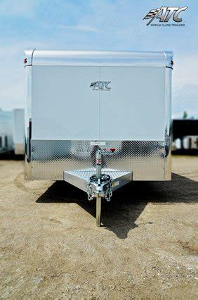 ft atc quest white aluminum motorcycle trailer mo